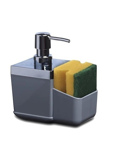 Primanova Primanova Toscana Süngerlikli Mutfak Sıvı Sabunluk Dispenser Gri Gri